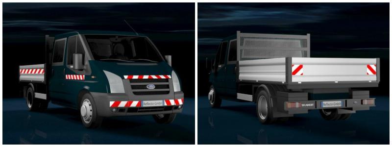 Fahrzeuge mit KFZ-Warnmarkierung