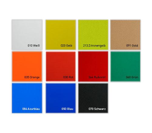 Farbvarianten der Reflexfolie 5600 E