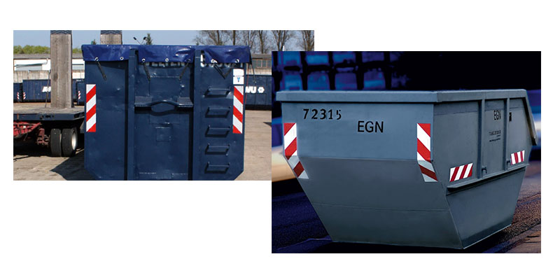 Reflektierende-Warnmarkierungen-auf-Containern